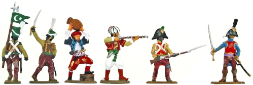 Plastic toy soldiers by Hat and Italeri painted as pirate army