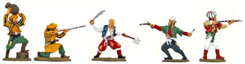 Plastic toy soldiers painted as Barbary Pirates