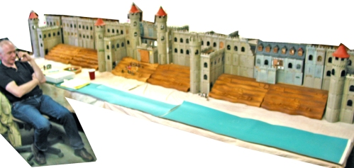 Playmobil castle sets with plastic toy soldiers