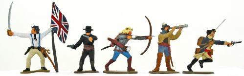 5 plastic toy soldiers animated for game