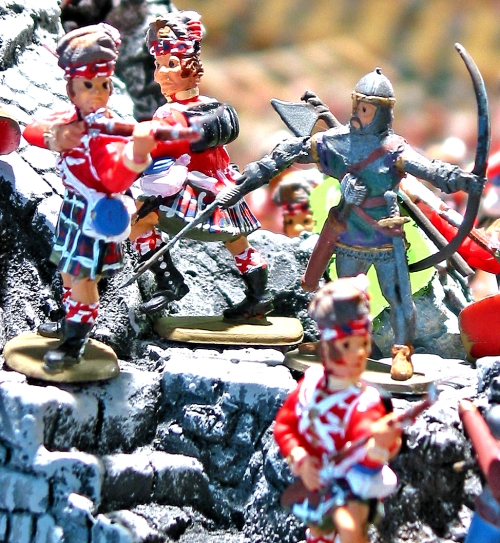Harold's Rangers and Timpo highlanders plastic toy soldiers