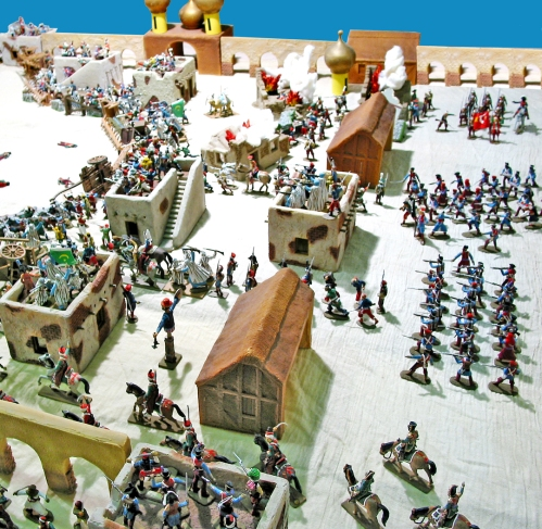 Italeri and Hat and Barzso plastic toy soldiers