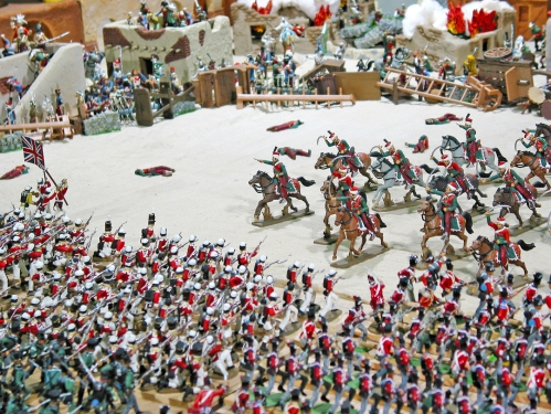 Plastic toy soldiers