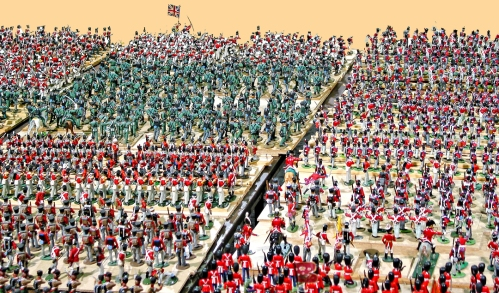Plastic toy soldiers from Britains and Timpo and Airfix