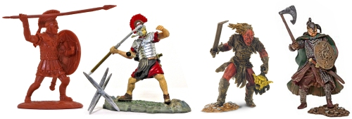 Expeditionary Force Hoplite, Forces of Valor Historical Legends Roman, Play Along Lord of the Rings Urukhai and Rohan Soldier