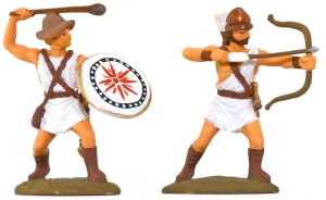 EXP107p Athenian Archers and Slingers - fully painted