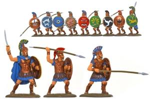 EXP109p Athenian Hoplites - fully painted