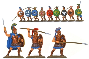 EXP109p Athenian Hoplites - fully painted