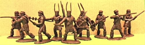 expzul04 Zulu Command and Warriors with Rifles