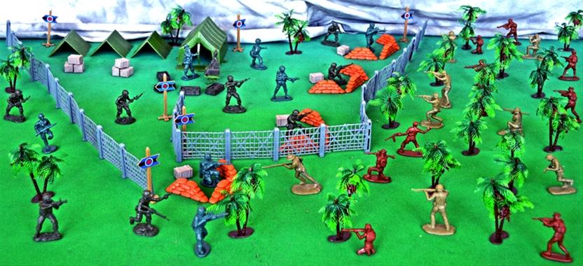 playset-140 Vietnam War Jungle Encounter Playset