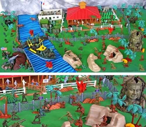 playset-140b Supreme Vietnam War Plantation Battle Playset