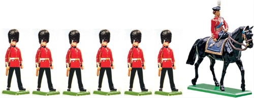 Queen Elizabeth and Her Scots Guards
