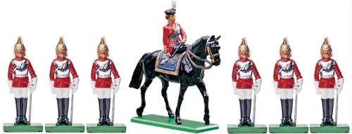 H.M. Queen Elizabeth with Her Life Guards