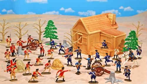 Deluxe Painted American Revolution Playset (45 pieces)...$279