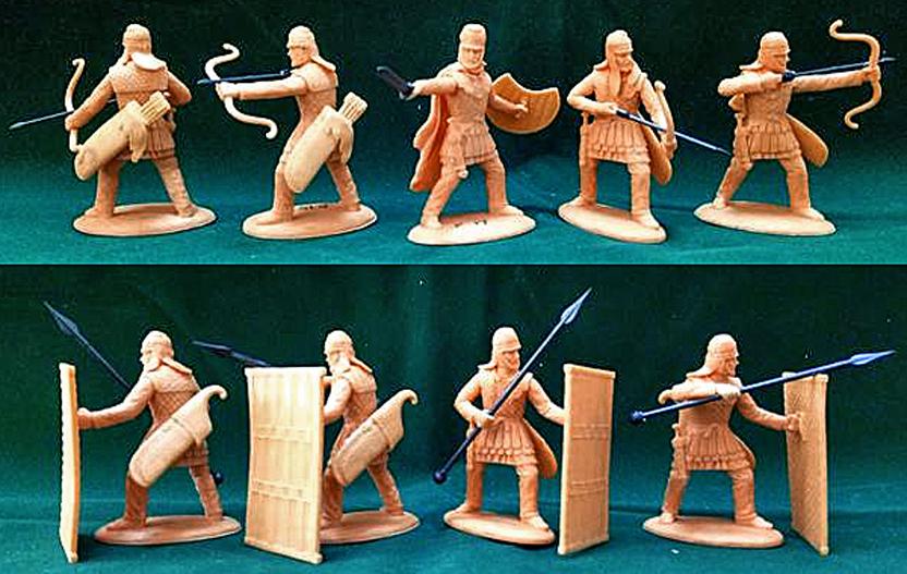 EXPPSN09 Ancient Persian Pavisiers and Archers - Sparabara