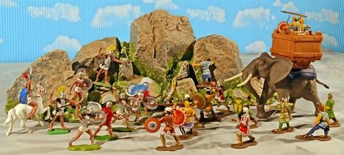 Painted Thermopylae Playset
